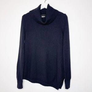 BCBGMaxazria Black Wool Asymmetrical Sweater